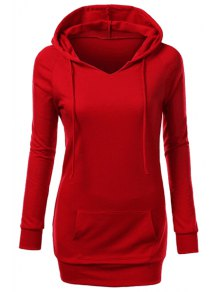 Hooded Front Pocket Pullover Hoodie