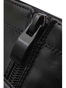 Black Rivet Platform High Heel Boots - BLACK 34