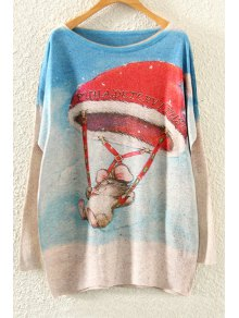 Mouse Print Long Sleeve Christmas Jumper
