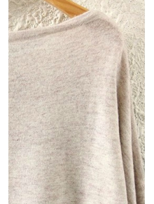 Squirrel Print Long Sleeve Jumper - BEIGE ONE SIZE(FIT SIZE XS TO M)