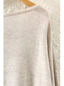Feather Print Long Sleeve Jumper - BEIGE ONE SIZE(FIT SIZE XS TO M)