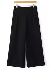 Solid Color Loose Fitting Palazzo Pants