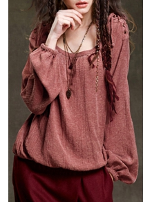 Lantern Sleeve Loose Fit Fall Top