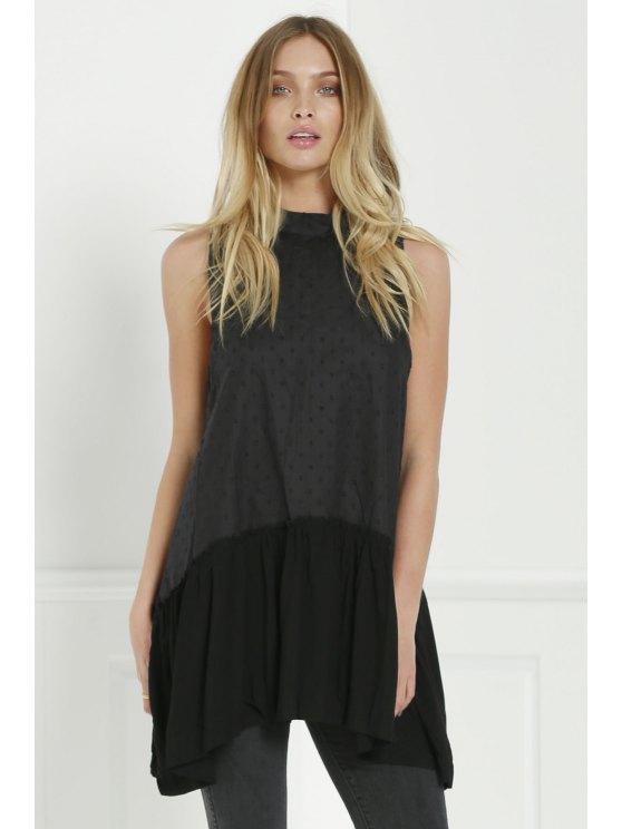 fashion Preetty Tecnt Tunic - BLACK S