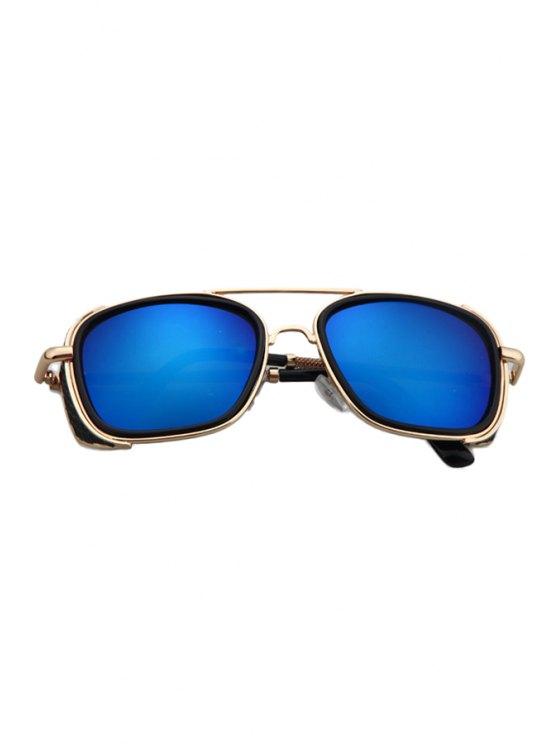 Retro Quadrate Sunglasses - BLUE  Mobile