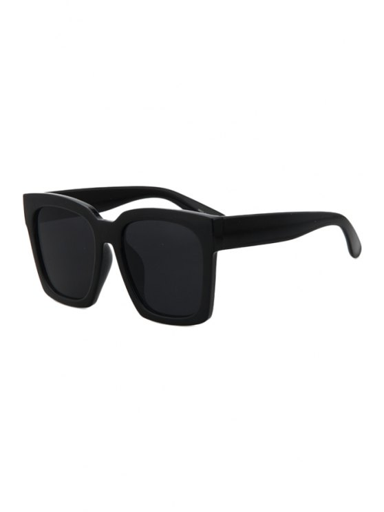 chic Black Quadrate Sunglasses - BLACK