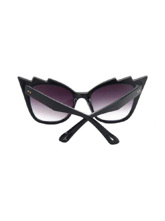 Black Cool Cat Eye Sunglasses - PURPLE  Mobile