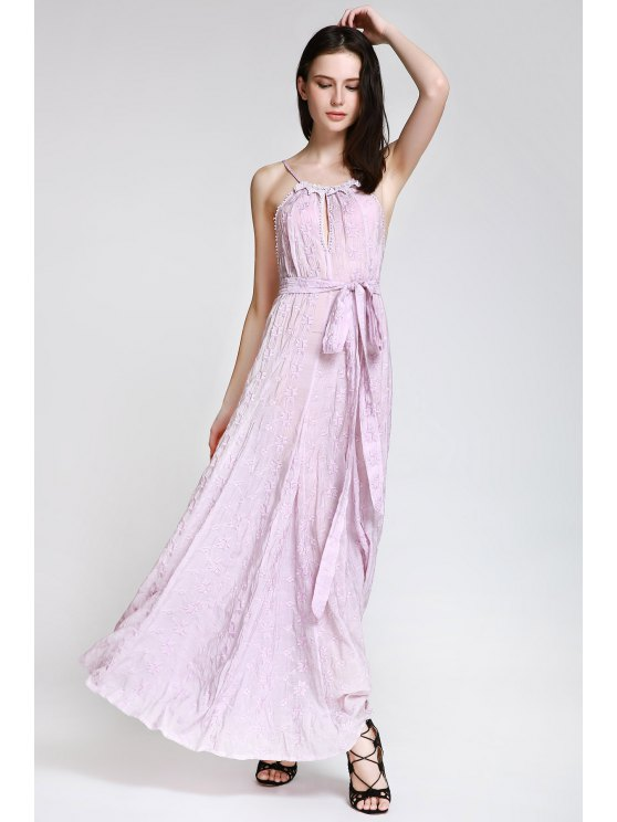 new Floral Embroidered Cami Maxi Dress - VIOLET S
