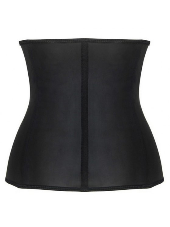 Slimming Zipper Design Corset - BLACK 4XL Mobile
