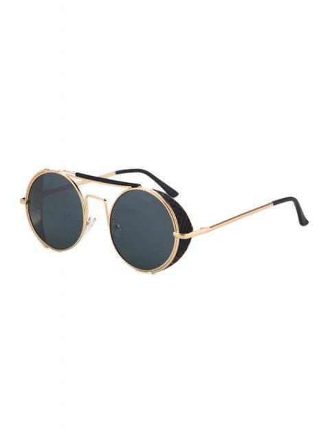 buy Retro Round Sunglasses - BLACK  Mobile