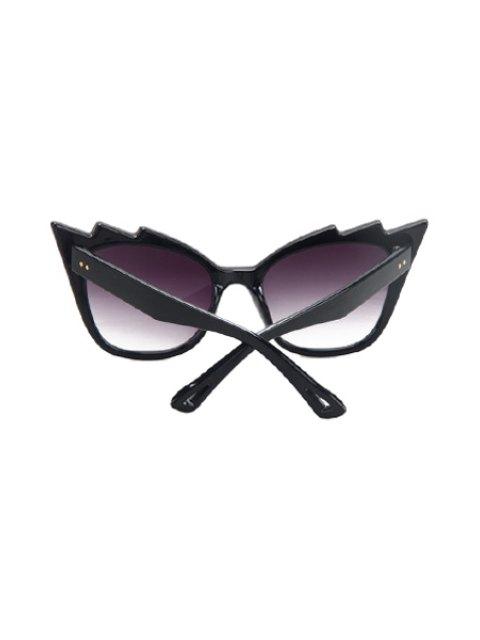hot Black Cool Cat Eye Sunglasses - PURPLE  Mobile