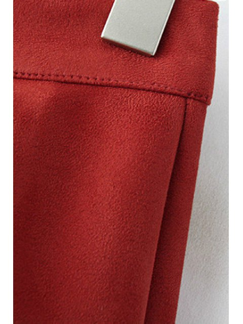 new Hollow Out A Line Skirt - RED S Mobile