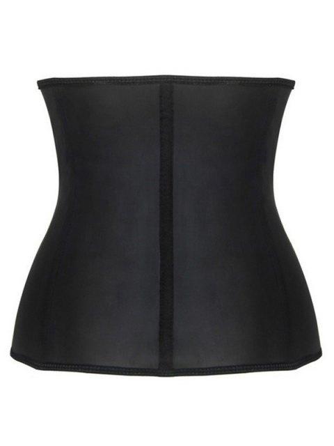 sale Slimming Zipper Design Corset - BLACK 4XL Mobile