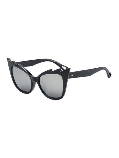 Black Cool Cat Eye Sunglasses - Silver