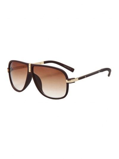 Big Frame Solid Color Sunglasses - Wine Red