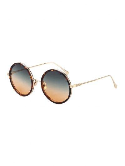 Retro Leopard Metal Round Sunglasses