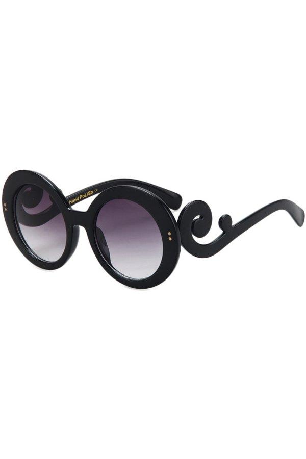 Rattan Shape Round Sunglasses