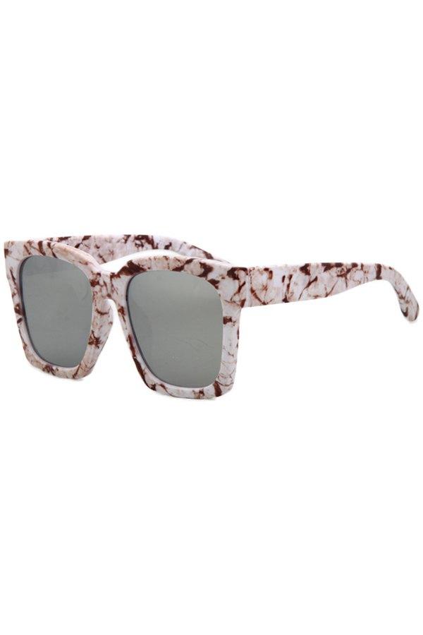Stone Pattern Quadrate Sunglasses