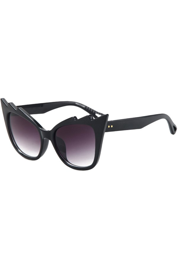 Black Cool Cat Eye Sunglasses