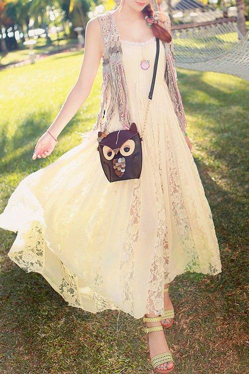 Cami Lace Spliced Maxi Dress