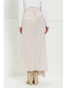 Striped Pink High Waisted Skirt - PINK S
