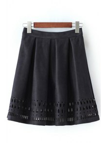 Hollow Out A Line Skirt