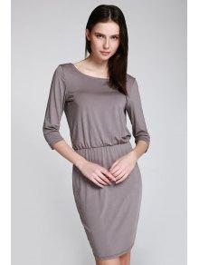 Open Back 3/4 Sleeve Bodycon Dress