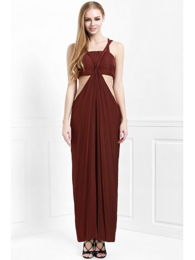 Cami Solid Color with Boob Tube Top Jumpsuit - COFFEE S Mobile