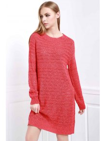 Loose-Fitting Sweater Dress