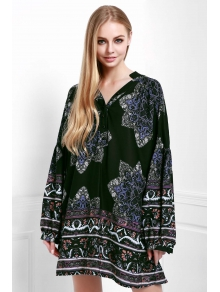 Floral Print Loose-Fitting Dress