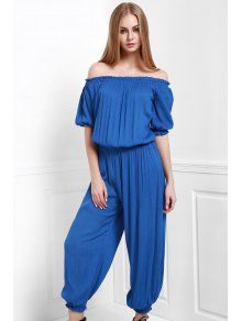 Solid Color Off The Shoulder Jumpsuit