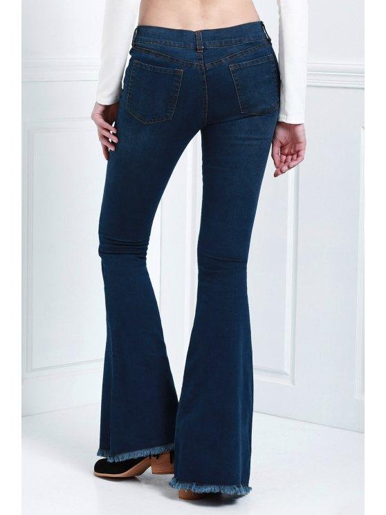 Denim Super Flare Jeans - DEEP BLUE L Mobile