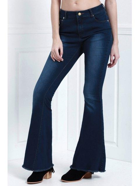 shop Denim Super Flare Jeans - DEEP BLUE S Mobile