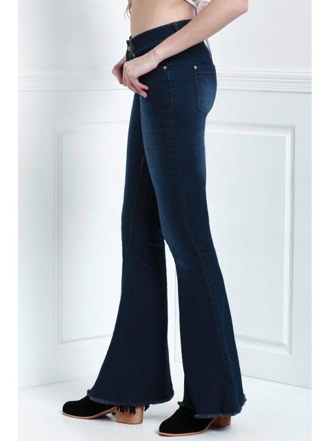 shops Denim Super Flare Jeans - DEEP BLUE M Mobile