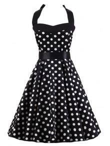 Polka Dot Halter Flare Dress