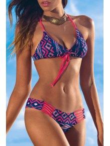 Argyle Print Spaghetti Strap Bikini Set