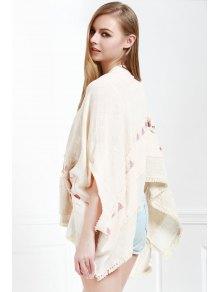 Batwing Sleeve Fringed Kimono