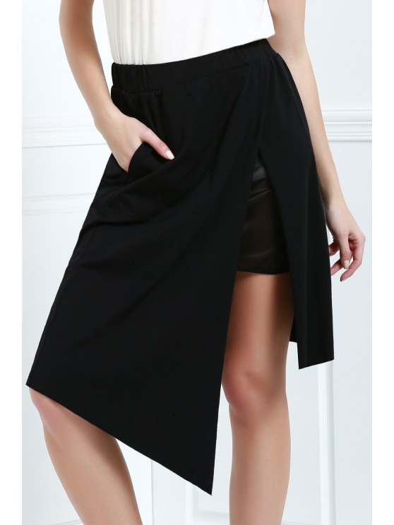 Falda Asimétrica - Negro L