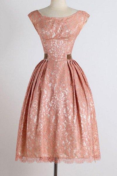 Boat Neck Sleeveless Ball Gown Dress