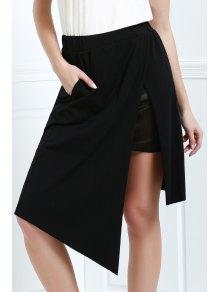 Asymmetric Skirt - Black L