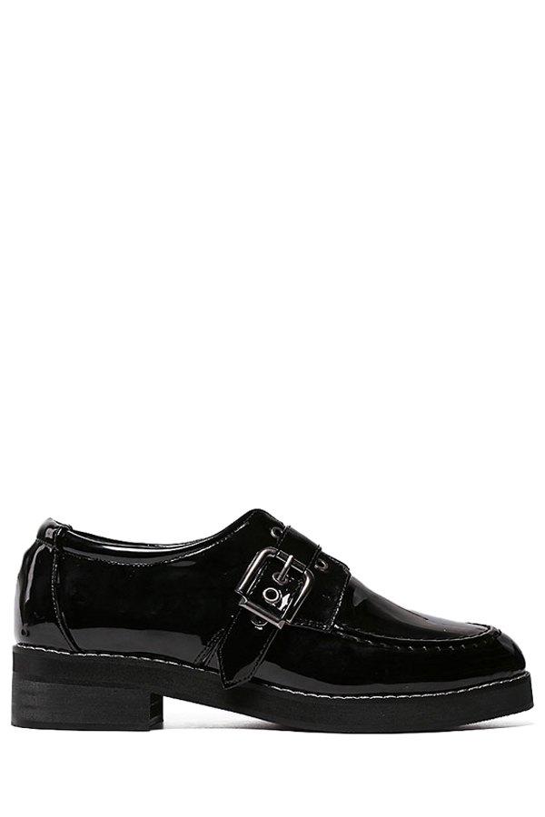 Black Design Flat Shoes For Women