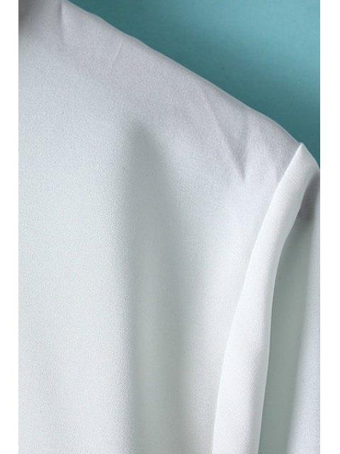 new Lips Print Shirt Collar Long Sleeve Shirt - WHITE M Mobile