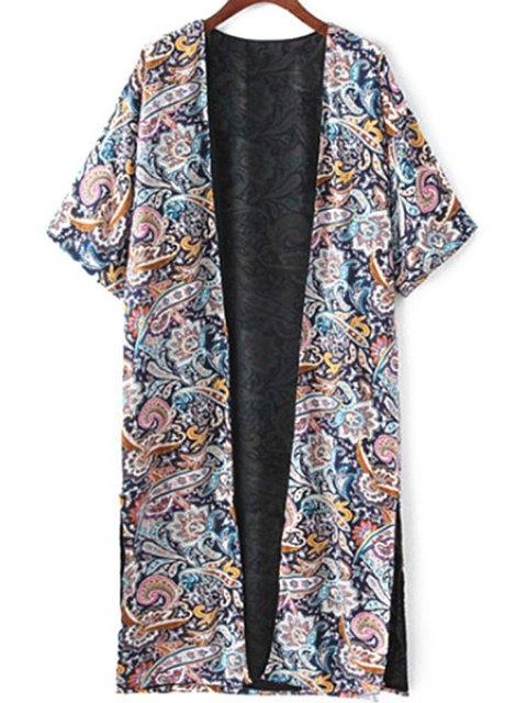 new Retro Print Half Sleeve Kimono Blouse - COLORMIX S Mobile