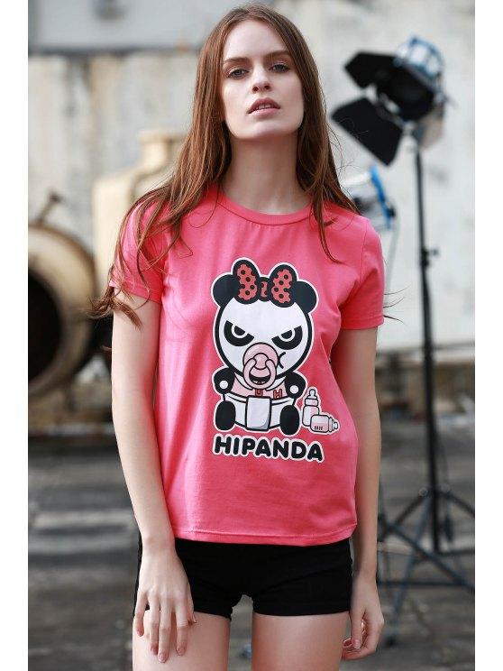 Cartoon Panda Pattern Tee - ROSE S Mobile