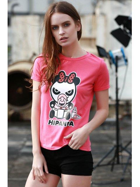 buy Cartoon Panda Pattern Tee - ROSE XL Mobile