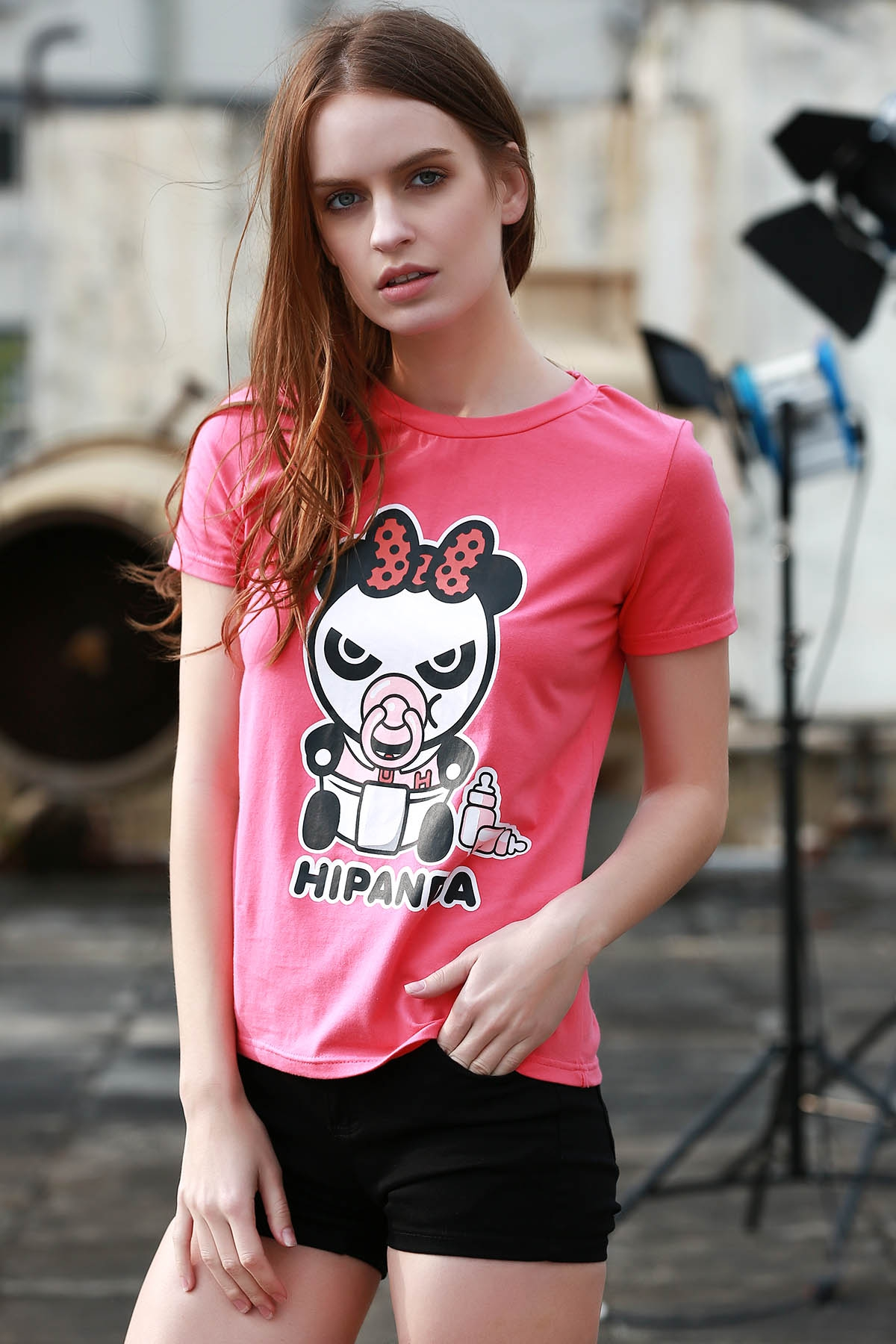 Cartoon Panda Pattern Tee