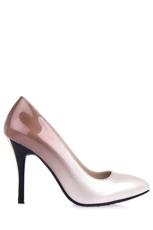 Gradient Color Pointed Toe Stiletto Heel Pumps