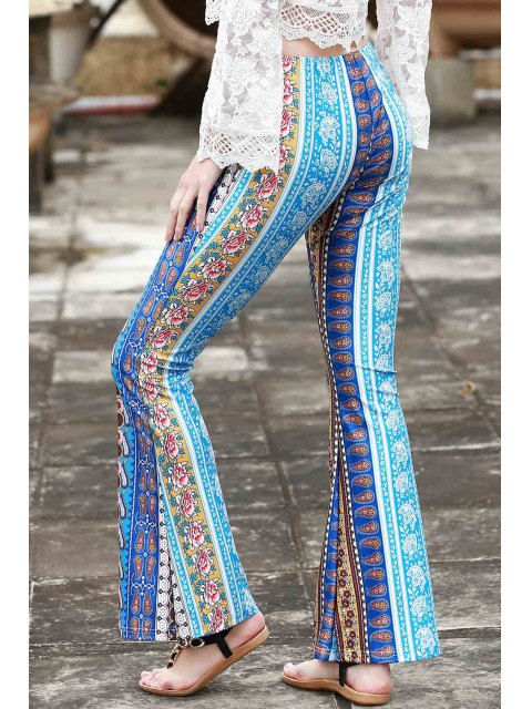 Bordure Imprimer Pantalons de Bell - Bleu M Mobile