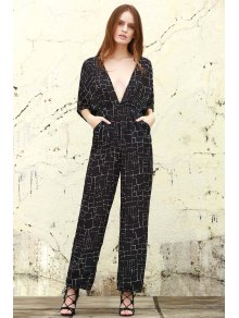 True Decadence Tall Plunge Front Palazzo Jumpsuit