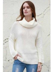 Split dolcevita pullover Maglione - Bianco M